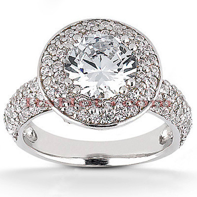 Diamond Platinum Engagement Ring 1.89ct Main Image