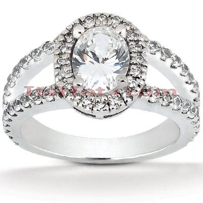 Diamond Platinum Engagement Ring 1.90ct Main Image