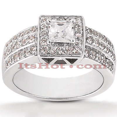 Diamond Platinum Engagement Ring 1.92ct Main Image