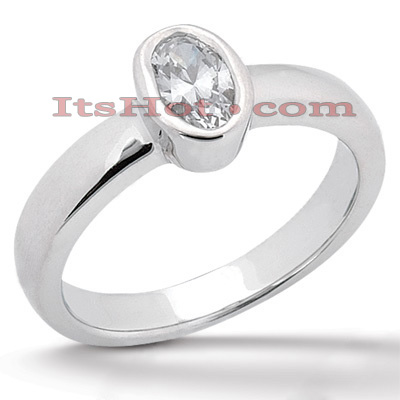 Diamond Platinum Engagement Ring 1ct 5.48mm Diamond Platinum Engagement Ring 1ct 5.48mm