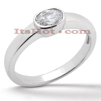 Diamond Platinum Engagement Ring 1ct Main Image