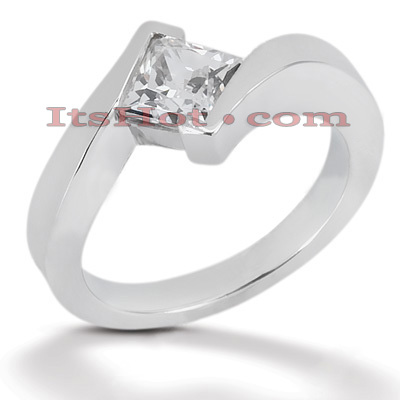 Diamond Platinum Engagement Ring 1ct 10.9mm Main Image