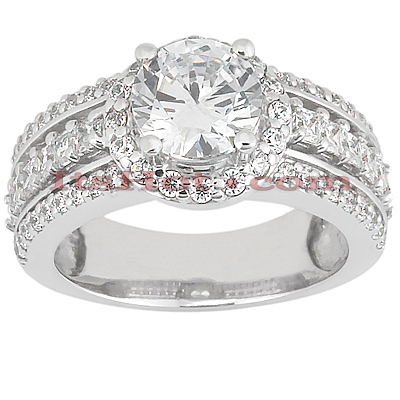 Diamond Platinum Engagement Ring 2.01ct Main Image