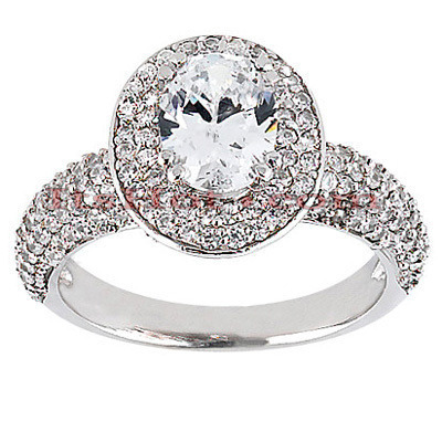 Diamond Platinum Engagement Ring 2.15ct Main Image