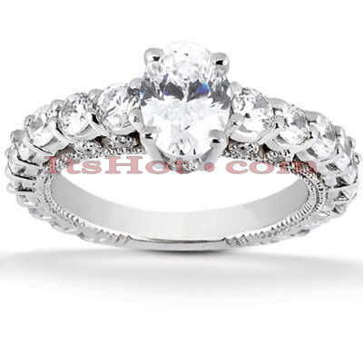 Diamond Platinum Engagement Ring 2.50ct Diamond Platinum Engagement Ring 2.50ct