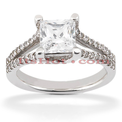 Diamond Platinum Engagement Ring Mounting 0.27ct