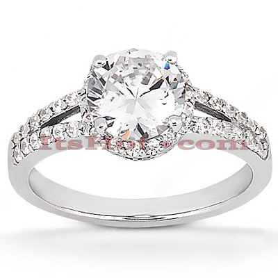 Diamond Platinum Engagement Ring Mounting 0.41ct Main Image