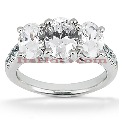 Diamond Platinum Engagement Ring Mounting 0.70ct Diamond Platinum Engagement Ring Mounting 0.70ct