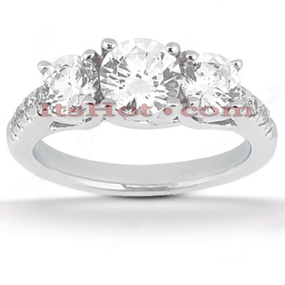 Diamond Platinum Engagement Ring Mounting 1.20ct Main Image