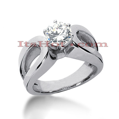 Diamond Platinum Engagement Ring Mounting Diamond Platinum Engagement Ring Mounting