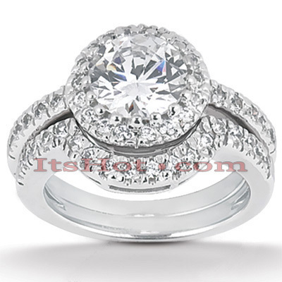 Diamond Platinum Engagement Ring Mounting Set 0.43ct Main Image