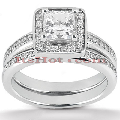 Diamond Platinum Engagement Ring Set 1.44ct Diamond Platinum Engagement Ring Set 1.44ct