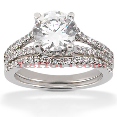 Diamond Platinum Engagement Ring Set 1.57ct Diamond Platinum Engagement Ring Set 1.57ct
