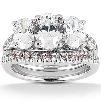 Diamond Platinum Engagement Ring Set 2.53ct Diamond Platinum Engagement Ring Set 2.53ct