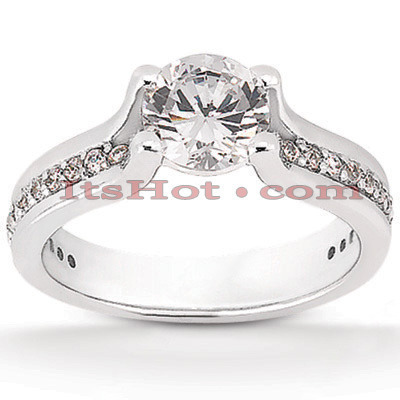 Diamond Platinum Engagement Ring Setting 0.39ct Main Image