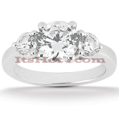 Diamond Platinum Engagement Ring Setting 0.50ct Diamond Platinum Engagement Ring Setting 0.50ct