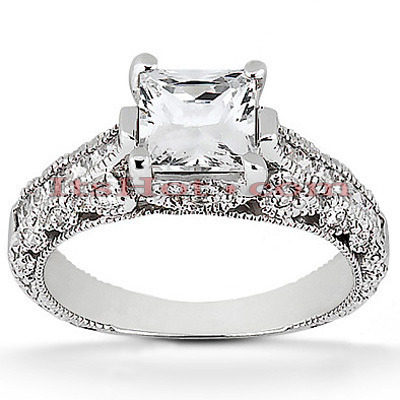 Diamond Platinum Engagement Ring Setting 0.64ct Main Image