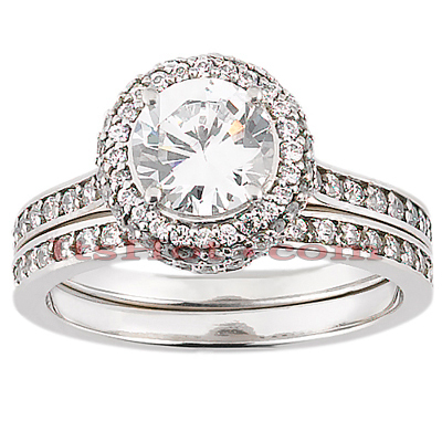Diamond Platinum Engagement Ring Setting 0.75ct Main Image