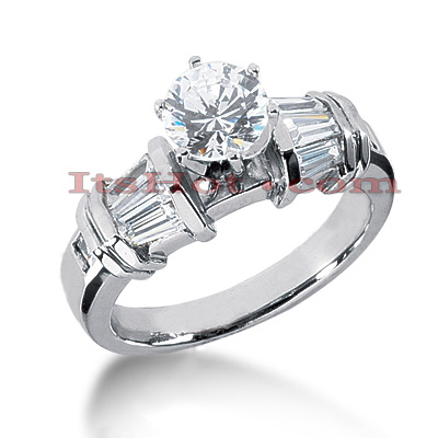 Diamond Platinum Engagement Ring Setting 0.82ct