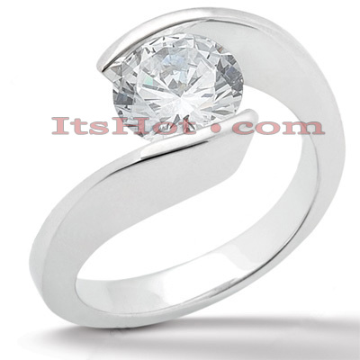 Diamond Platinum Engagement Ring Setting Diamond Platinum Engagement Ring Setting