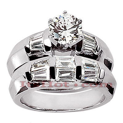 Diamond Platinum Engagement Ring Setting Set 1.06ct Main Image