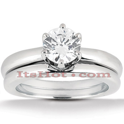 Diamond Platinum Engagement Ring Setting Set Diamond Platinum Engagement Ring Setting Set