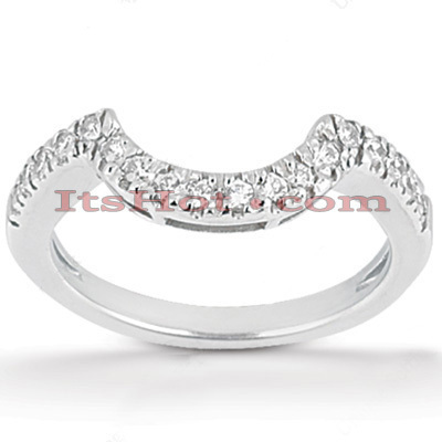 Diamond Platinum Engagement Wedding Band 0.17ct Main Image