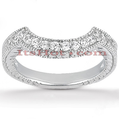 Thin Diamond Platinum Engagement Wedding Band 0.23ct 3.20mm Main Image