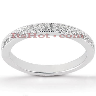 Thin Diamond Platinum Engagement Wedding Band 0.23ct Main Image