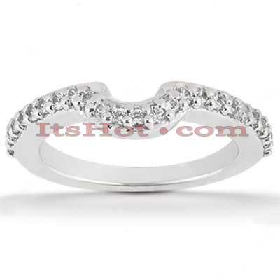Ultra Thin Diamond Platinum Engagement Wedding Band 0.38ct Main Image
