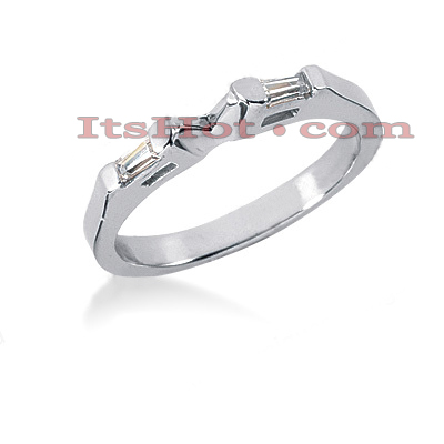 Thin Diamond Platinum Engagement Wedding Ring 0.14ct Main Image