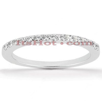 Ultra Thin Diamond Platinum Engagement Wedding Ring 0.21ct Main Image