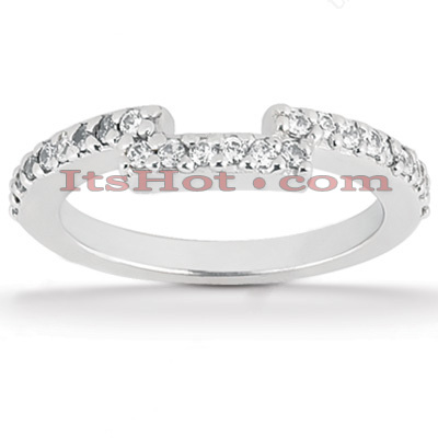 Ultra Thin Diamond Platinum Engagement Wedding Ring 0.24ct Main Image