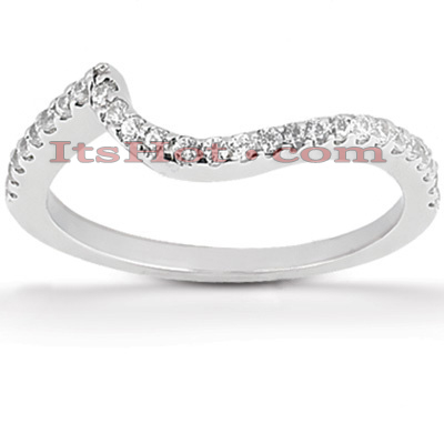 Ultra Thin Diamond Platinum Engagement Wedding Ring 0.27ct Main Image