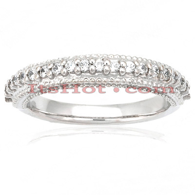 Thin Diamond Platinum Engagement Wedding Ring 0.30ct Main Image