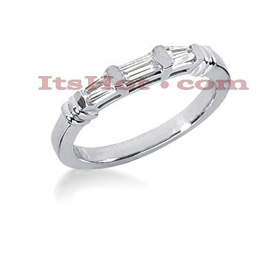 Thin Diamond Platinum Engagement Wedding Ring 0.38ct Main Image