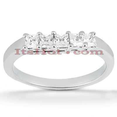 Thin Diamond Platinum Engagement Wedding Ring 0.70ct Main Image