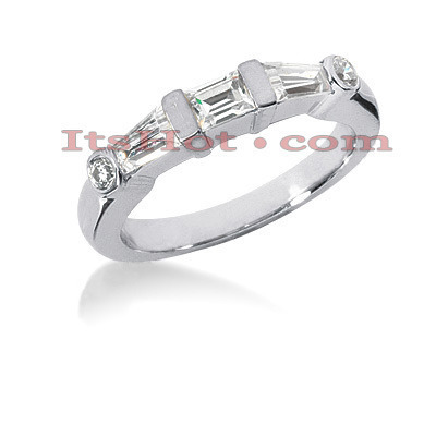 Thin Diamond Platinum Engagement Wedding Ring 0.72ct Main Image