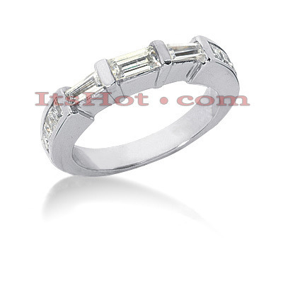 Thin Diamond Platinum Engagement Wedding Ring 0.79ct Main Image