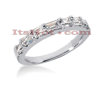 Thin Diamond Platinum Engagement Wedding Ring 0.87ct Main Image