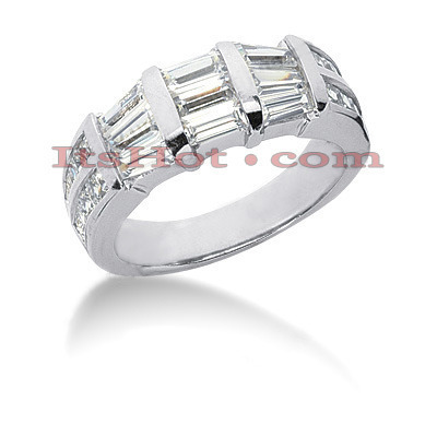 Diamond Platinum Engagement Wedding Ring 2.22ct