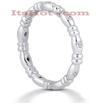 Diamond Platinum Eternity Band 0.14ct