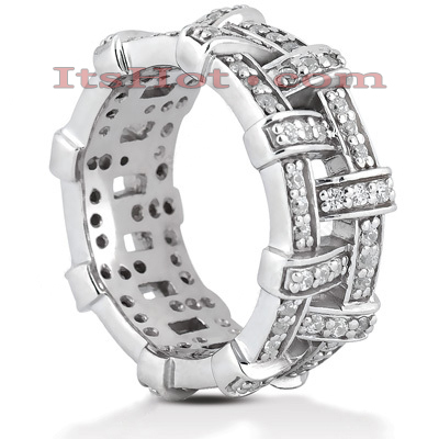 Diamond Platinum Eternity Band 0.96ct Main Image