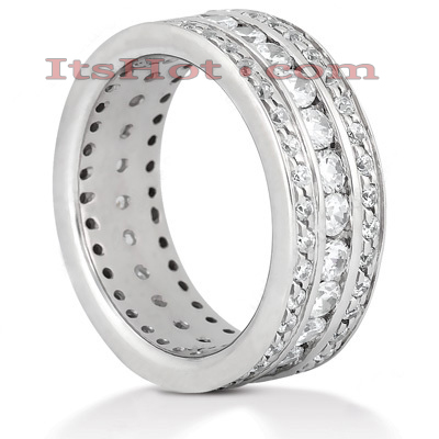 Diamond Platinum Eternity Band 1.90ct Main Image