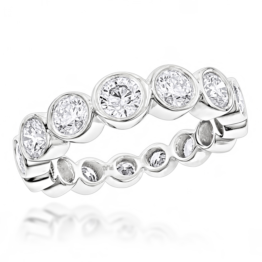 Diamond Platinum Eternity Band 2.09ct Main Image