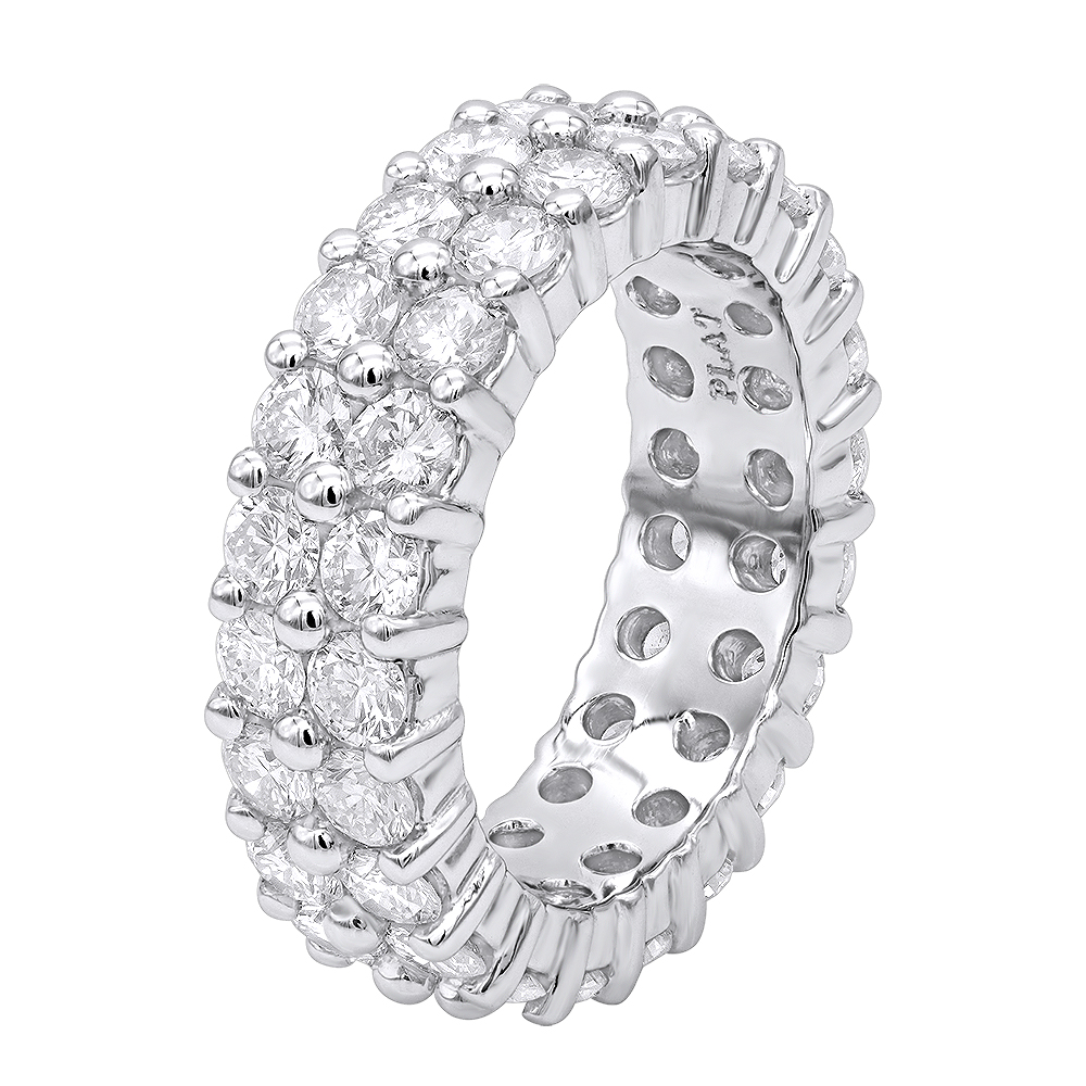 Round Diamond Platinum Eternity Band 4.60ct White Image