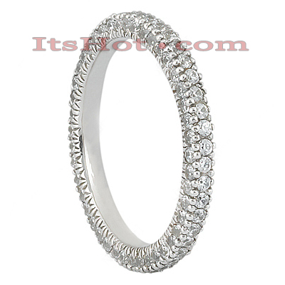 Thin Diamond Platinum Eternity Ring 1.10ct Main Image