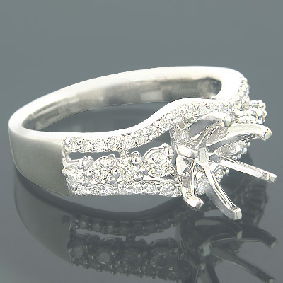 Diamond Ring Settings 18K Gold Engagement Setting .51ct Main Image