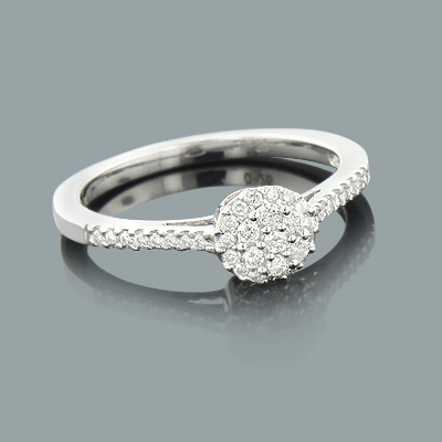 Diamond Rings on Sale 0.29ct 10K Gold Engagement Ring