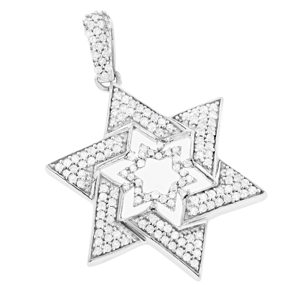 Diamond Star of David Pendant 14K 0.59ct